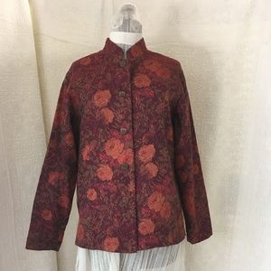 Coldwater Creek Sz Sm Damask Women Jacket